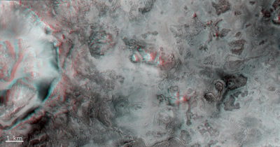 Neighbourhood of Jezero crater in 3D!